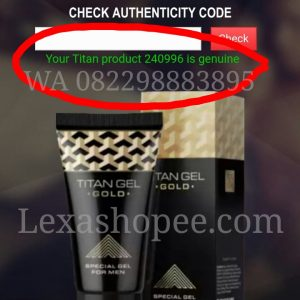titan gel gold asli